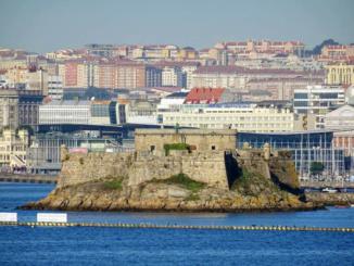 Castillo de San Anton from the Port of La Coruna.