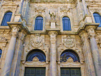 Side entrance to the Cathedral of Santiago de Compostela.