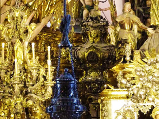 Two incense burners used during mass at the Cathedral. These are around 5 feet tall and weigh 175 lbs.