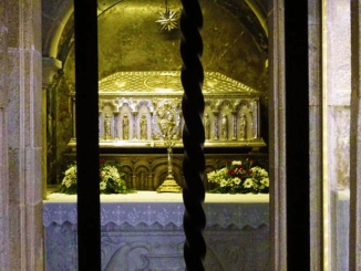 Reliquary chapel of Saint James, which is under the high altar of the Cathedral of Santiago de Compostela.
