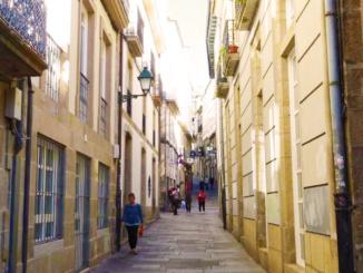 Residential street of Santiago.