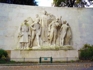 The monument of Paul Landowski, Trocadero Square, a tribute to the French Army of 1914 - 1918.