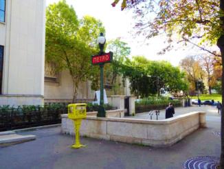 The Trocadero Metro stop.