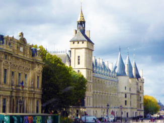 The buildings of the Conciergerie which are used as courts of law today were once a prison attached to the Royal Palace.