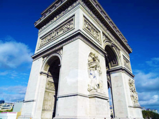 Arc de Triomphe de lEtoile, inaugurated in 1836, located at the Place Charles de Gaulle.