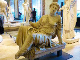 Sculpture in the Greek, Etruscan and Roman Antiquities section of the Louvre - lo ou Callisto, Suppliante Barberini.