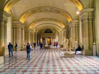 Hall of Caryatides, a room in the Sully Wing of the Louvre.
