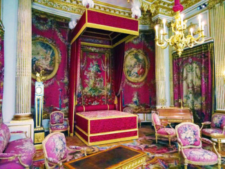 The King's Bedroom in the Napoleon III Apartments exhibit.
