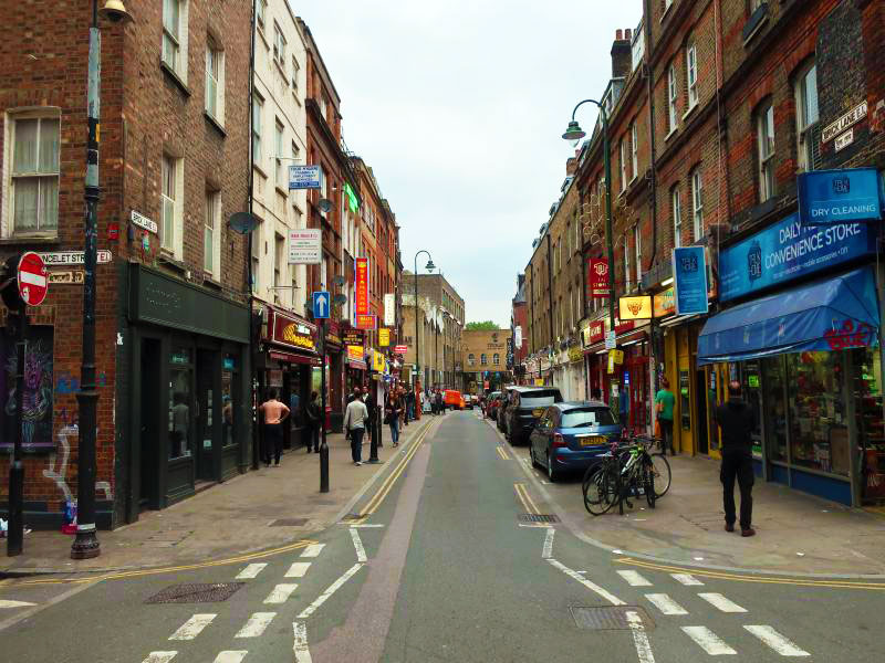 A look down Brick Lane