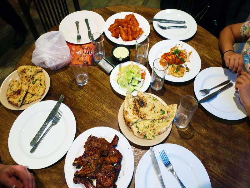 Lamb Chops, Paneer Tikka, Chili Mogo, Garlic Naan & Salad