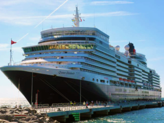 Cunard Queen Elizabeth in port of Visby Sweden