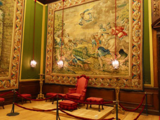 The Audience Chamber where the King would conduct interviews