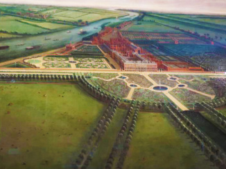 Early painting of the palace before anything was built around it