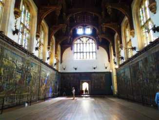 The Great Hall which is the largest room in Hampton Court Palace