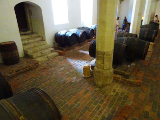 The Wine Cellar held the wine casks and other items like beer and ale
