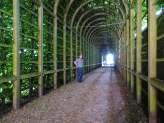 Inside Queen Mary's Bower that borders the Privy Garden