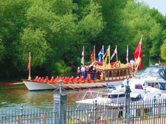 Gloriana - The Queen's Rowbarge presented to Her Majesty The Queen on her Diamond Jubilee in 2012