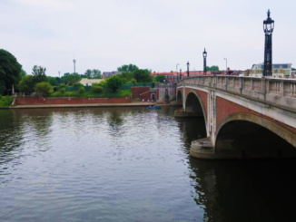 Hampton Court Bridge over the River Thames built in 1933