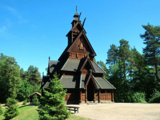 Gol Stave Church, re-erected in 1885