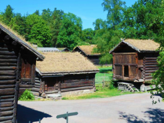 Historic buildings from Hovin and Gransherad in Telemark