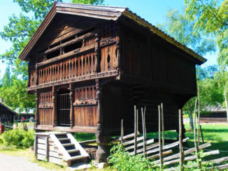 A loft from Telemark, built ca. 1750-60