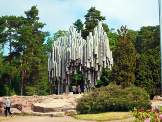 The impressive Sibelius Monument built in 1967 is dedicated to the Finnish composer Jean Sibelius