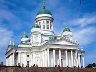 The Helsinki Cathedral completed in 1852 as a tribute to the Grand Duke of Finland, Tsar Nicholas I of Russia