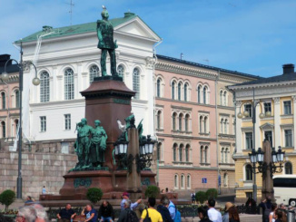 A statue of Alexander II (1894) stands proudly in the middle of Senate Square