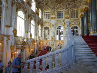 The Jordan Staircase of the Winter Palace was a focal point for arriving guests