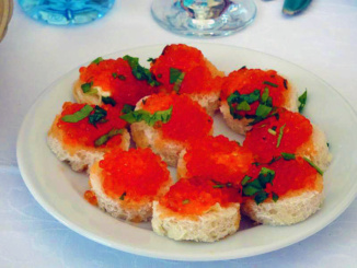 Another appetizer of Red Caviar