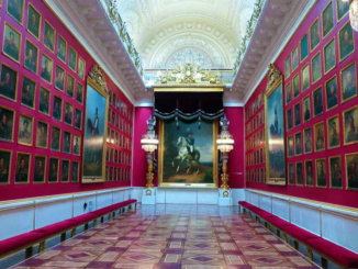 The War Gallery of 1812 deplays 332 portraits commemorating Russia's defeat over Napoleon.