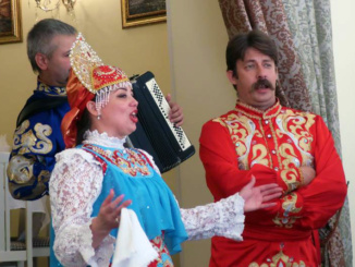 The Russian singing group who entertained us with Russian Folk songs