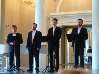 We were entertained by a Russian a cappella ensemble