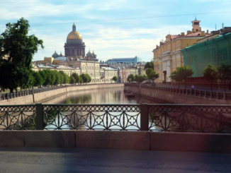 A great view of one of the canals as we made our way through St. Petersburg and back to our ship