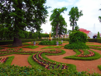 The Opera sculptured garden on the lower part of the estate