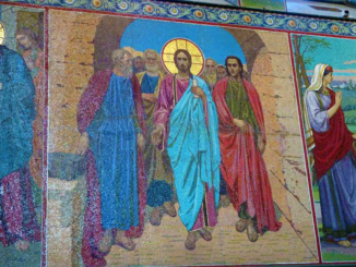 The details captured in the mosaics are of the quality of a fine painting