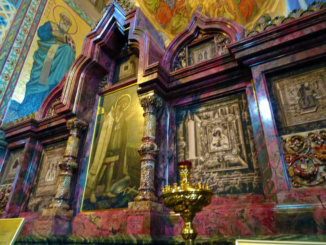The incredible fixtures and elaborate mosaics can be found throughout the temple