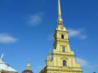 Peter and Paul Fortress is the original citadel of St. Petersburg, Russia built in 1740