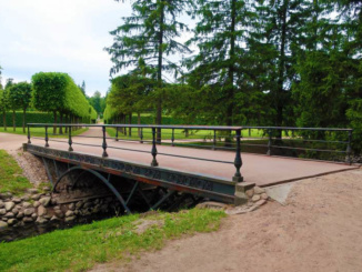 The oldest small iron bridge in Russia