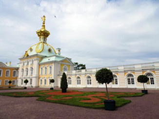 Another part of the Peterhof complex, designed in the same fashion as the rest of the fabulous estate