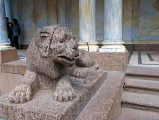 Lion made of Voronikhin marble