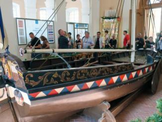 Replica of the 'Peter the Great' boat that Peter used to learn how to sail