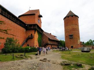The Internal Yard of Turaida Castle
