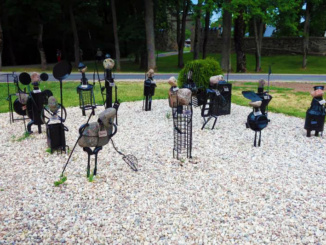 Very unique art display outside the grounds of Sigulda Castle and the Kropotkin Manor House