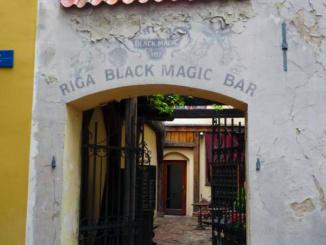 Riga Black Magic Bar serving the famous herbal balsam, known as Riga Black Balsam