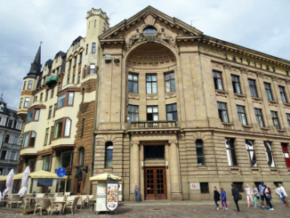The Art Nouveau Building in Dome Square