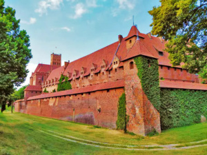 Once inside the grounds, the largest brick castle in the world is quite a sight.
