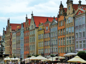 A row of Gdansk houses in the Long Market.