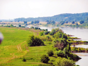 A beautiful look at the countryside while crossing over the Vistula River