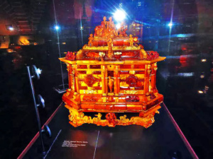 17th Century Amber Chest on display.
